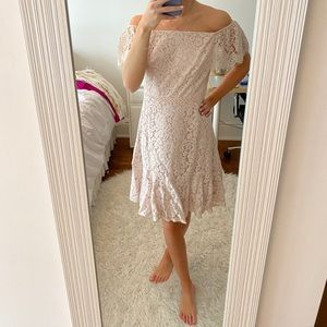 J crew lace fit and flare dress